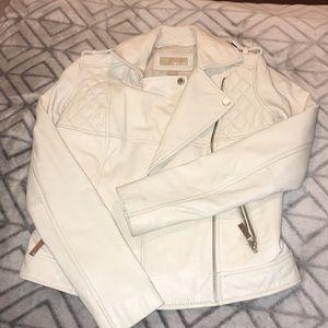 MICHAEL KORS   Creme Leather Jacket